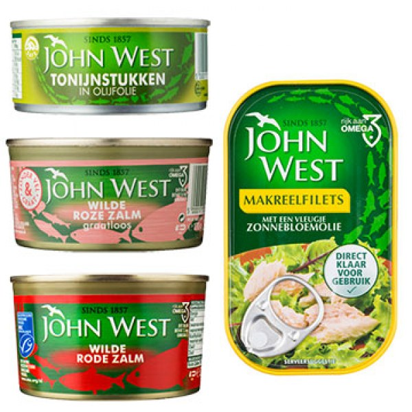 john west salmon tuna