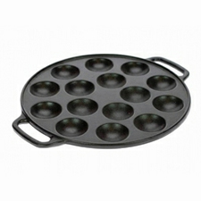 Pancake pan cast iron pffertjes pan