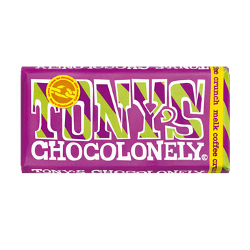 Tony chocolonely milk coffee crunch