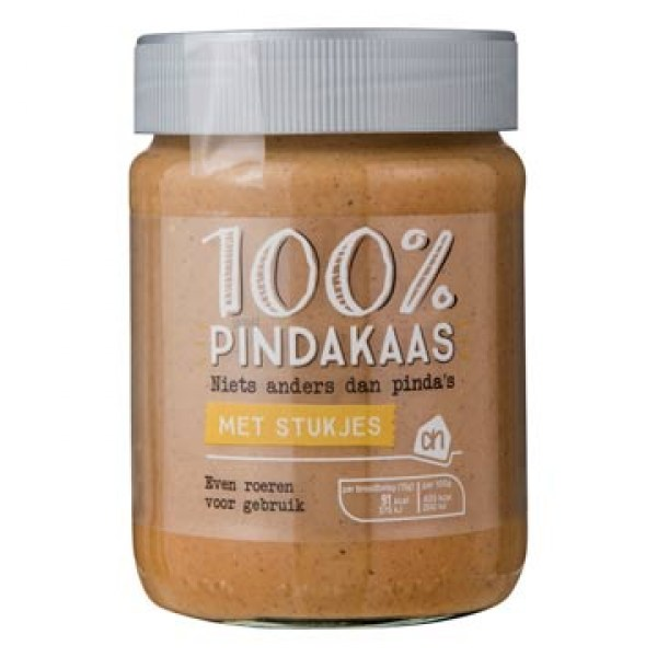 AH 100% peanut butter with peanuts 350 g