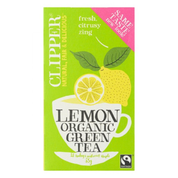 Clipper Organic green tea lemon 20 bags