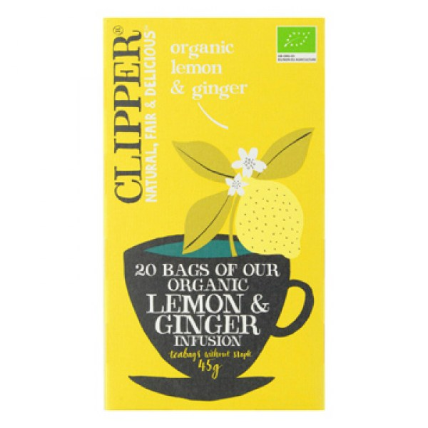 Clipper Organic lemon ginger infusion tea 20pcs
