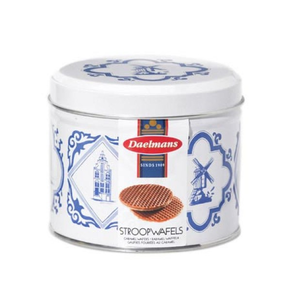 Daelmans Stroopwafels orange tin 230g