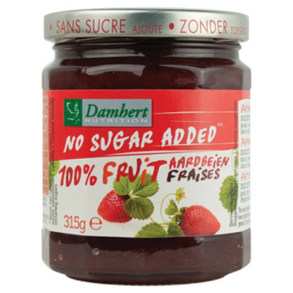 Damhert Strawberry jam sugar free 315g