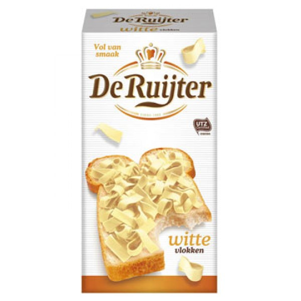 de ruijter white chocolate vlokken
