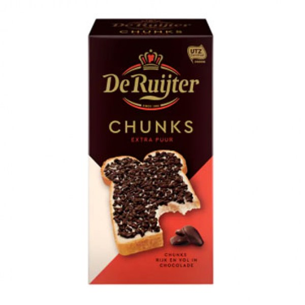 De Ruijter Chunks Dark 200g