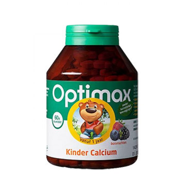 Optimax Kinder calcium kauwtabletten 60pcs