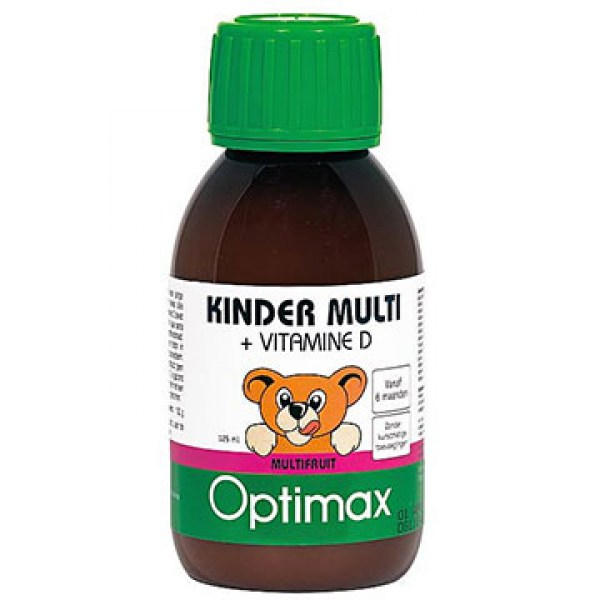 Optimax Kinder multi vloeibaar vitamine D 125ml