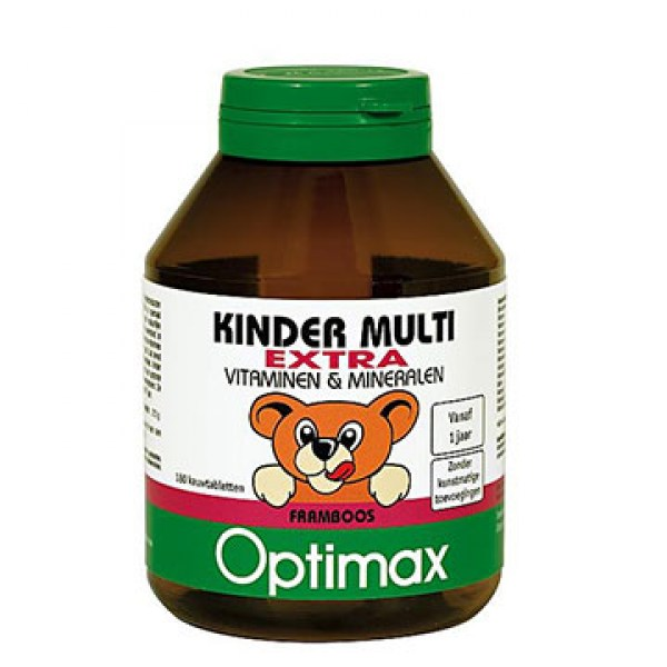Optimax Kinder multivitaminen extra 100 pieces