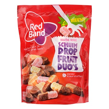 Red Band Schuim drop fruit duos