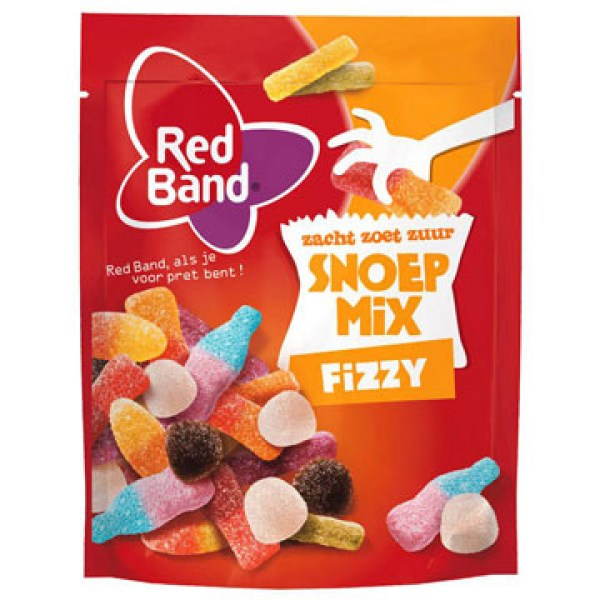 Red Band Snoep Mix Fizzy 250g