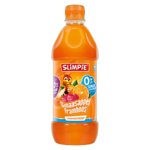 Slimpie Orange raspberry syrup drink no sugar no calorie