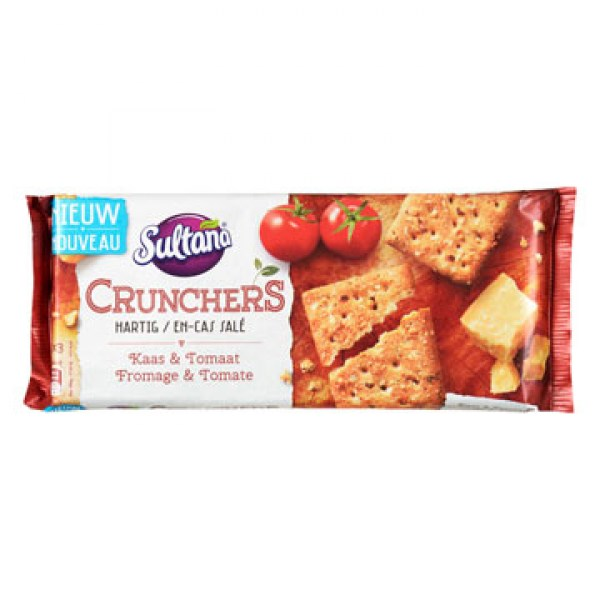 Sultana Crunchers cheese tomato 175g
