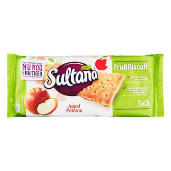 Sultana Fruitbiscuit apple 218g