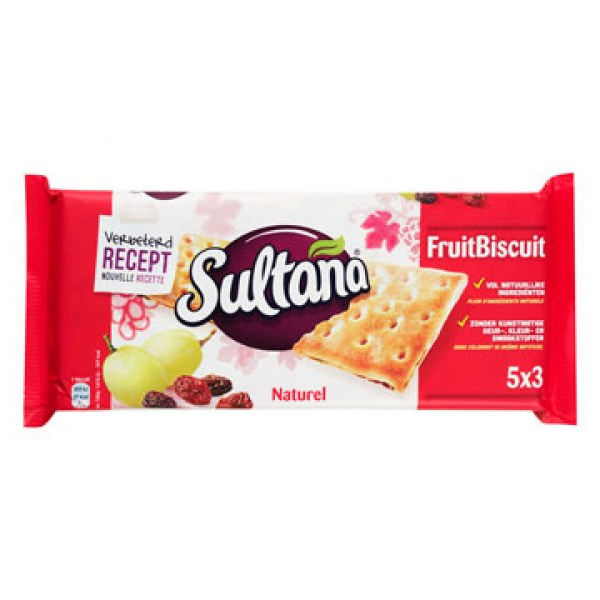 Sultana Fruitbiscuit naturel 218g