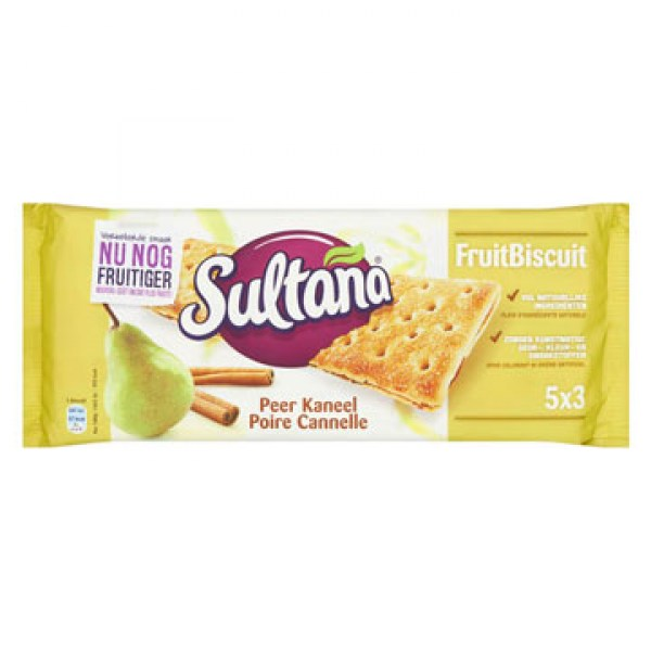 Sultana Fruitbiscuit pear cinnamon 218g