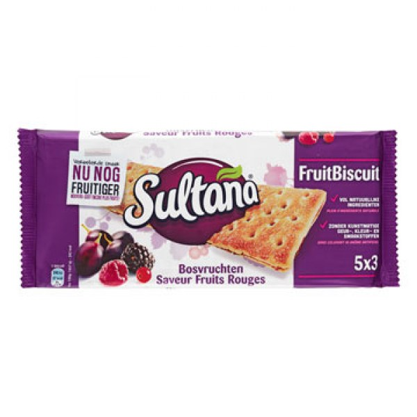 Sultana Fruitbiscuit Wood Fruits 218g