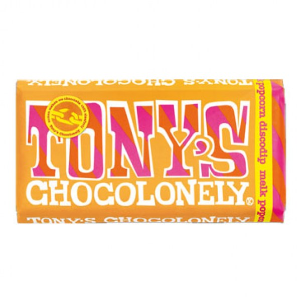 Tony chocolonely milk popcorn discodip