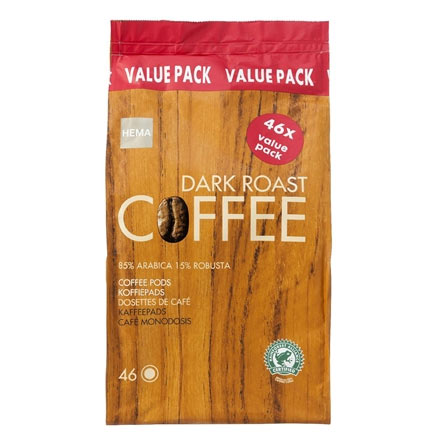 Hema dark roast coffee value pack 46x